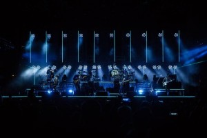 Martin Professional's VDO Sceptrons frame the stage for Mumford & Sons world tour