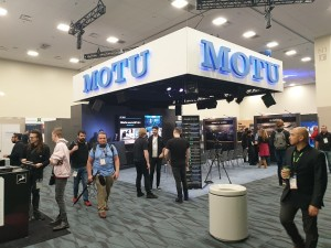 Calibre equips Motu stand at NAMM show
