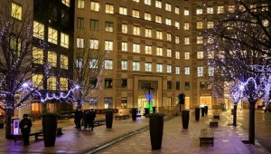 Chauvet fixtures used at Canary Wharf Winter Lights