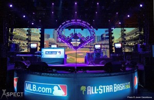 MLB All-Star Bash with Elation Platinum series movers and effects