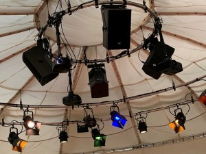 KV2 Audio systems for pop-up theatre in Manchester