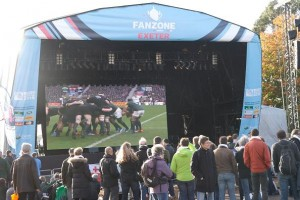 Fineline provides video screens and lighting for Rugby World Cup
