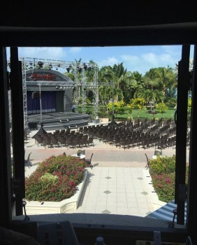 Outdoor theatre at Beaches Resorts in Turks and Caicos outfitted with Elation lighting
