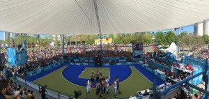Magic Sky überdacht Basketballfeld bei Youth Olympic Games