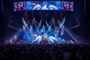Clay Paky Mythos fixtures on Fall Out Boy summer tour