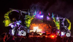 Elation LED Color for Tripolee Stage at Electric Forest Festival