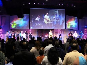 Eiki widescreen projectors installed at Miami Vineyard Community Church