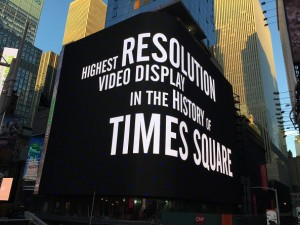 SNA Displays partners with Analog Way for Times Square project