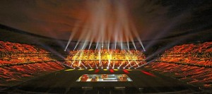 Robe BMFLs light FNB Stadium for Daimler event
