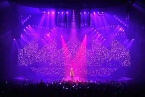 Justin Bieber on tour with Robe fixtures