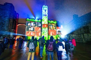 Ayrton Perseo supports Castle of Light in Edinburgh