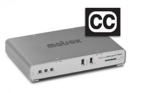 Matrox integrates closed captioning functionality into Monarch HDX encoder