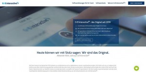 G+B Interactive-Website im neuen Design