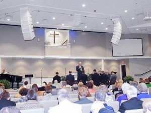 WorxAudio loudspeakers deployed throughout Unity Free Will Baptist Church's new facility