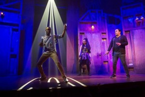 "Elation lighting rig for off-Broadway show ""Puffs"""